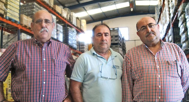 Fernando, Manuel y Juan Jesús Sánchez, los dueños de la empresa.