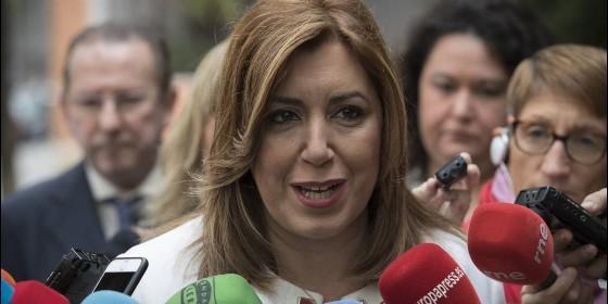 Susana Díaz, durante una comparecencia pública