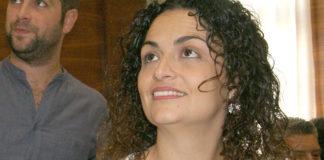 Ana Rodríguez antes del acto de investidura.