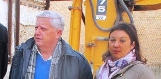 Una de las últimas comparecencias públicas de Moreno junto al alcalde. Muriel