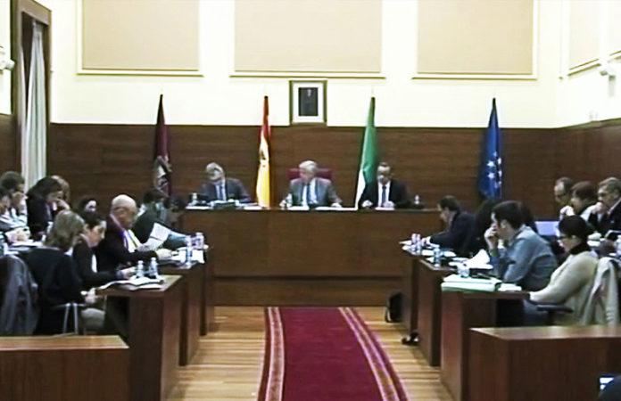 La celebración de la sesión ordinaria del pasado mes de enero.