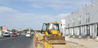 Obras ejecutadas en la avenida Diputación.