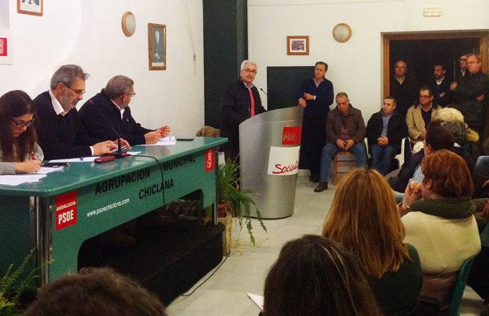 Un momento en el desarrollo de la asamblea donde se llevó a cabo la votación.