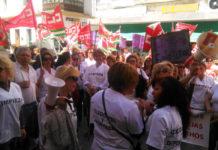 La plantilla de Limasa durante una concentración. Foto: Muriel
