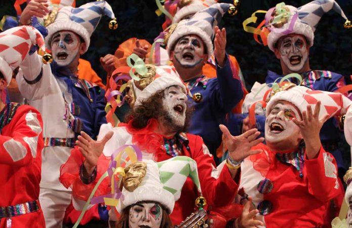 Alemania (centro) participó en el coro La Fiesta en el presente concurso.