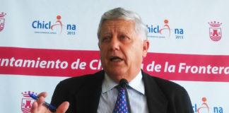El alcalde durante la rueda de prensa ofrecida tras conocer su imputación. Muriel