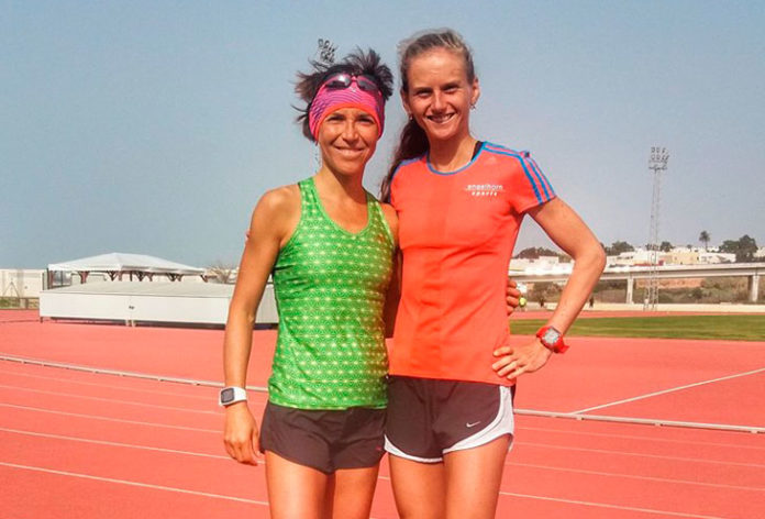 Dos de las atletas en Huerta Mata