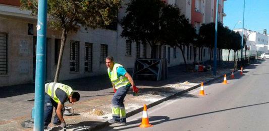 Imagen de los trabajos que se están desarrollando en la zona.